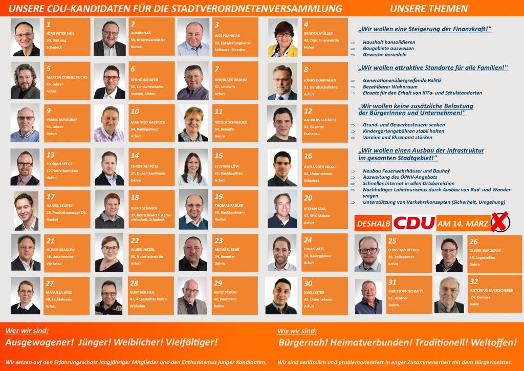 Flyer CDU Kandidaten 2021
